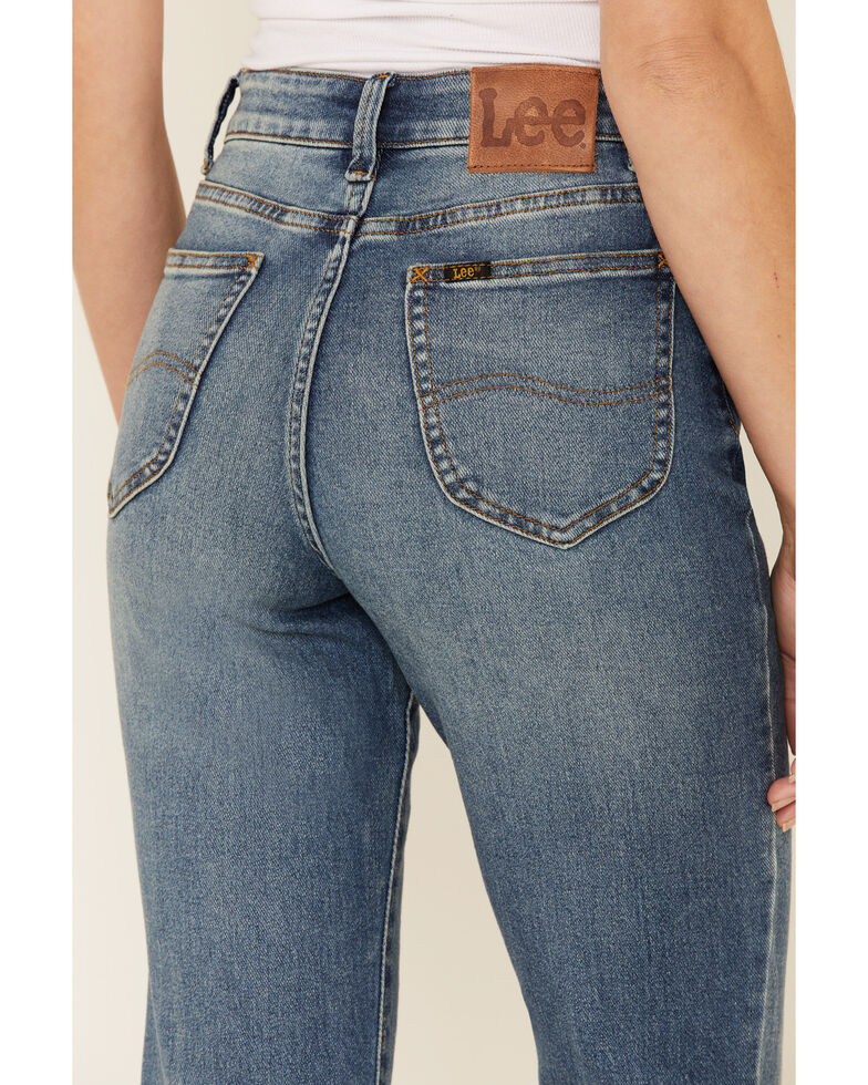 Lee Women's Wisteria Flare Leg Jeans, Blue, hi-res