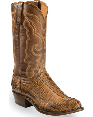 Men's Handmade Franklin Hornback Caiman Tail Boot Round Toe - N1151.R3