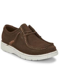 Justin Men's Hazer Tasso Lace-Up Shoes - Moc Toe, Dark Brown, hi-res