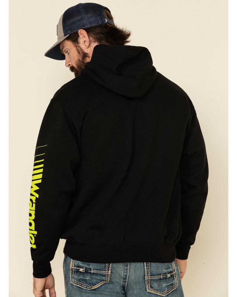 Wrangler Men's Black Sleeve Logo Hooded Sweatshirt , Black, hi-res