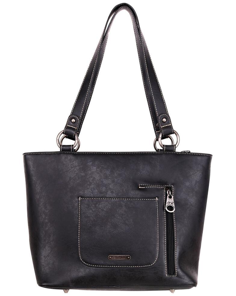 Montana West Women's Black Fringe Tote Bag, Black, hi-res