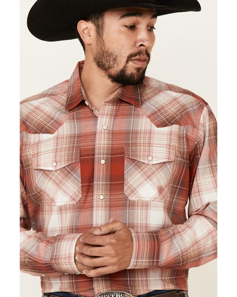 Ariat Men's Alvardo Retro Large Plaid Long Sleeve Western Shirt , Red, hi-res