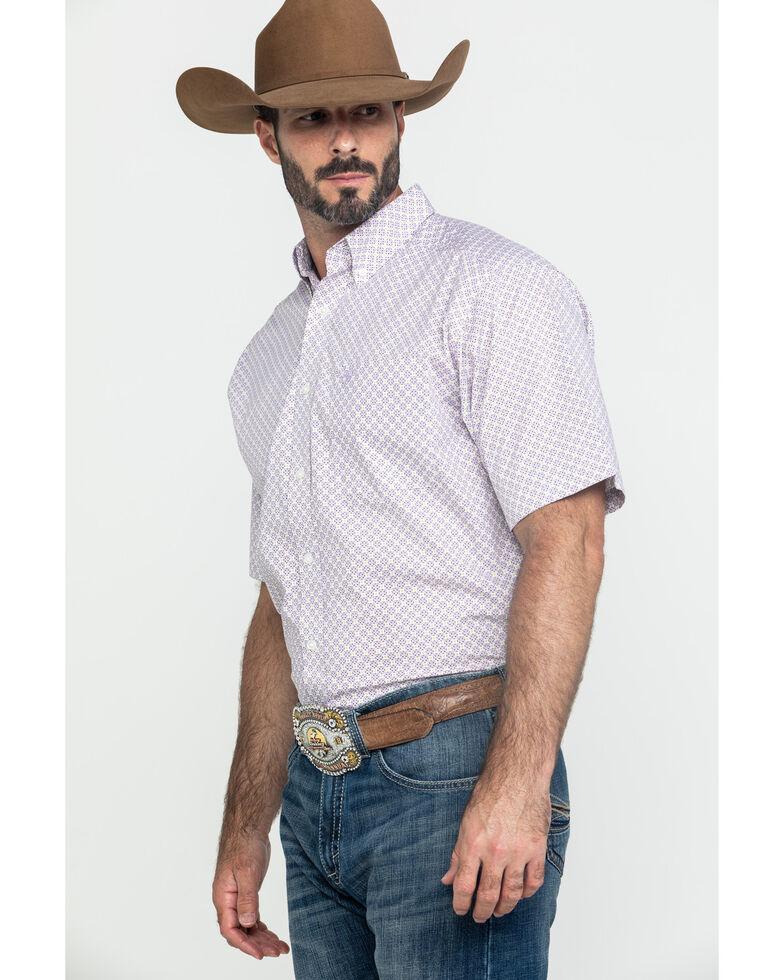 Ariat Men's Fallston Multi Stretch Geo Print Short Sleeve Western Shirt - Tall , Multi, hi-res