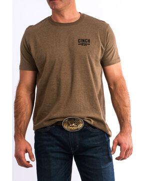 Cinch Men's Back Print Logo Graphic T-Shirt , Brown, hi-res