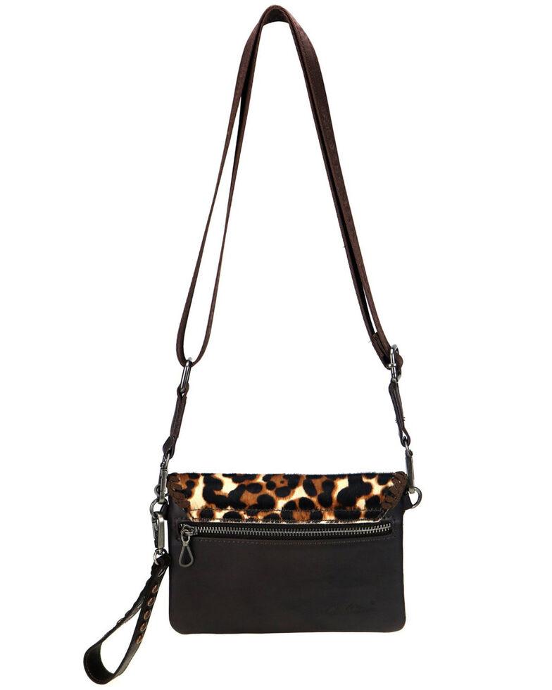 Montana West Women's Leopard Hair-On Crossbody Bag, Coffee, hi-res