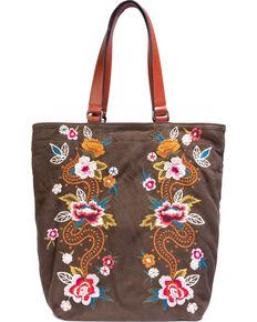 Johnny Was Women's Esmeralda Suede Bag , Olive, hi-res