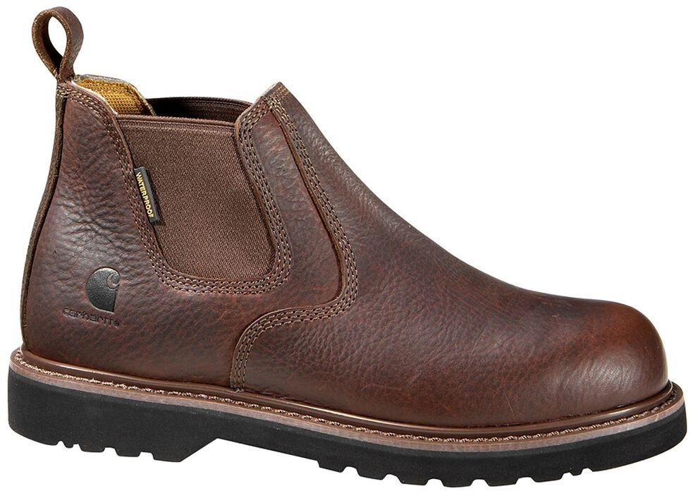 "Carhartt 4"" Twin Gore Romeo Work Shoes - Composite Toe, Dark Brown, hi-res"
