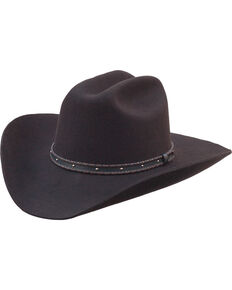 Silverado Men's Flynn Low Cattleman Crown Western Hat , Chocolate, hi-res