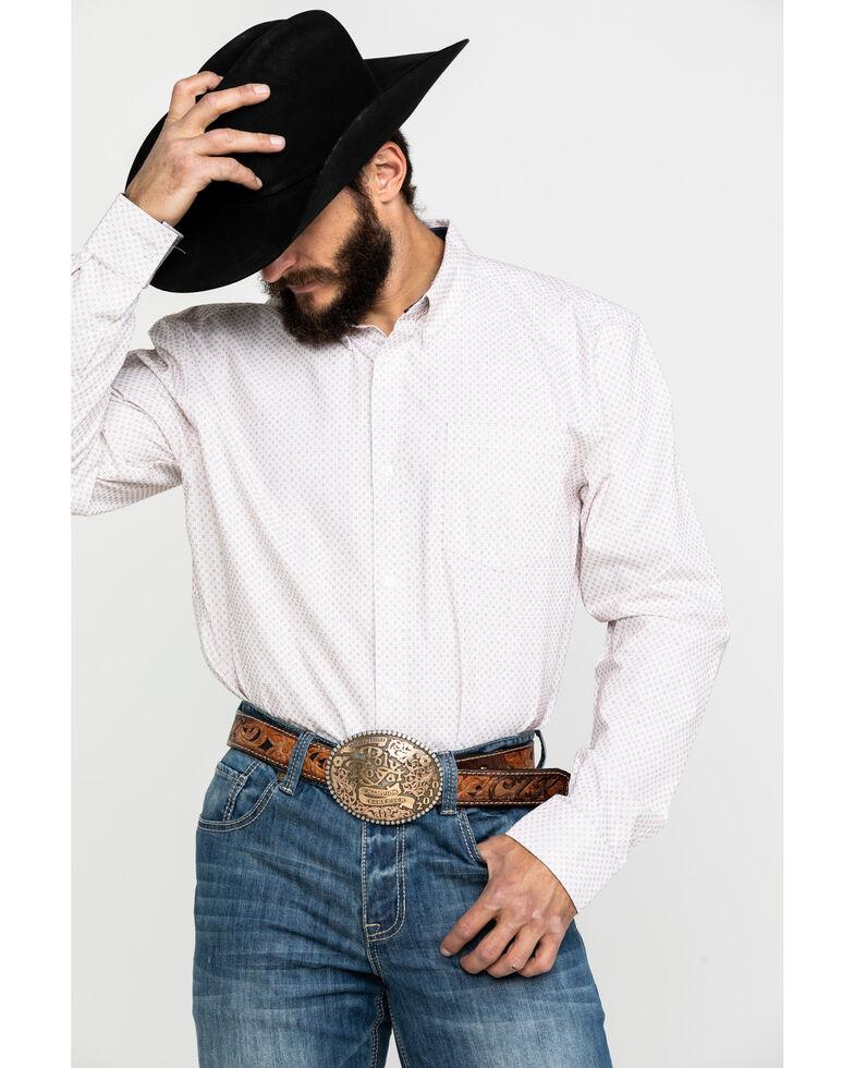 Cody James Core Men's Dolores Check Plaid Long Sleeve Western Shirt , White, hi-res