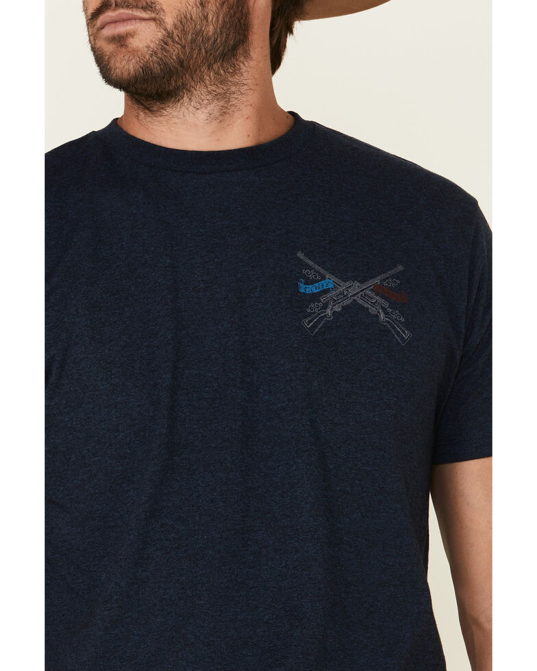 Cody James Men's USA Defender Skull Graphic Short Sleeve T-Shirt , Navy, hi-res