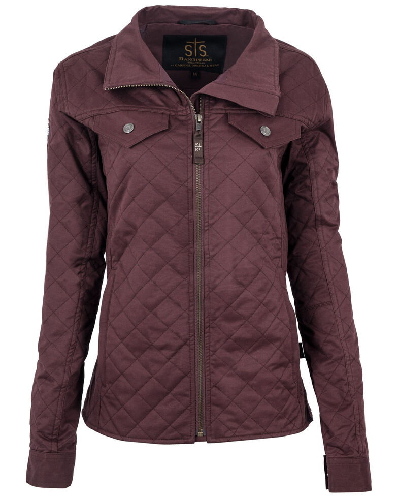 STS Ranchwear Women's Plum Quilted Finley Tracker Jacket - Plus, Purple, hi-res