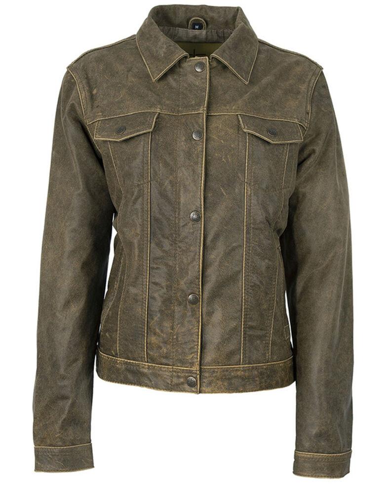 STS Ranchwear Women's Rattletone Cartwright Leather Jacket, Brown, hi-res