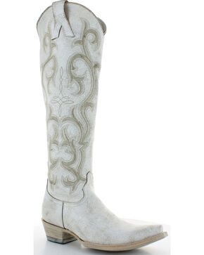 Old Gringo Women's White Dolly Mayra Tall Boots - Snip Toe , Taupe, hi-res