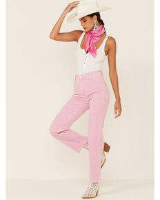 Rolla's Women's Straight Leg Corduroy Pants, Pink, hi-res