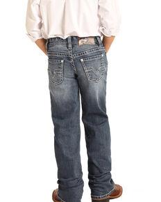 Rock & Roll Denim Boys' Reflex Medium Vintage Stretch Boot Jeans , Blue, hi-res