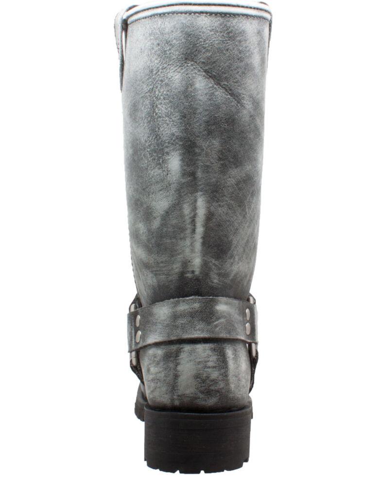 RideTecs Men's Stonewashed Harness Western Boots - Square Toe, Black, hi-res