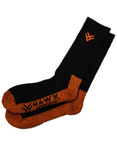Hawx® Men's 2 Pack Steel Toe All Season Socks, Black, hi-res
