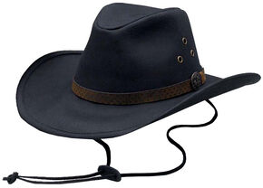 Outback Trading Co. Oilskin Trapper Hat, Black, hi-res