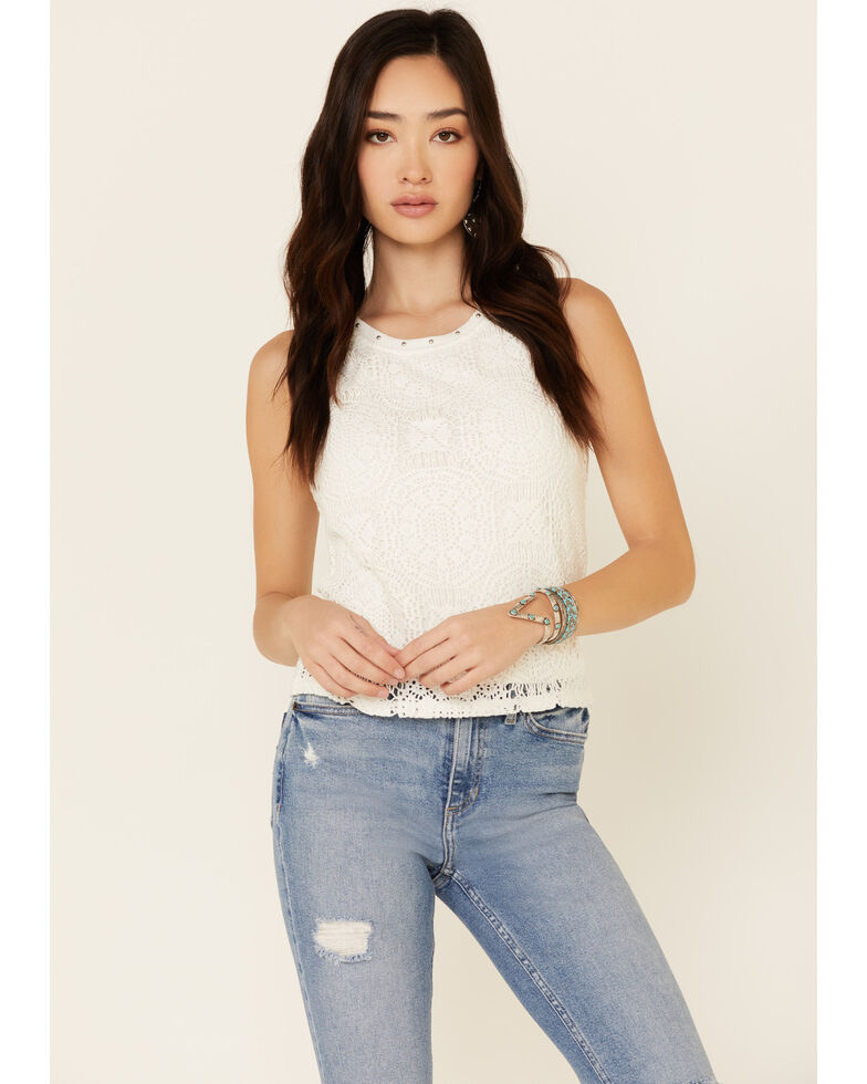 Idyllwind Women's Palm Springs Tank Top, Ivory, hi-res
