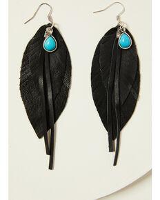 Idyllwind Women's Roots & Wings Earrings, Black, hi-res
