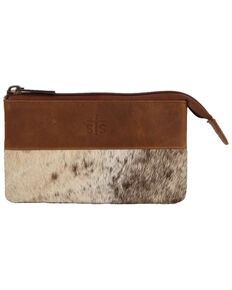 STS Ranchwear Women's Rio Zipper Wallet, Distressed Brown, hi-res
