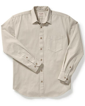 Filson Men's Light Gravel 6.5 oz. Chino Shirt , Light Grey, hi-res