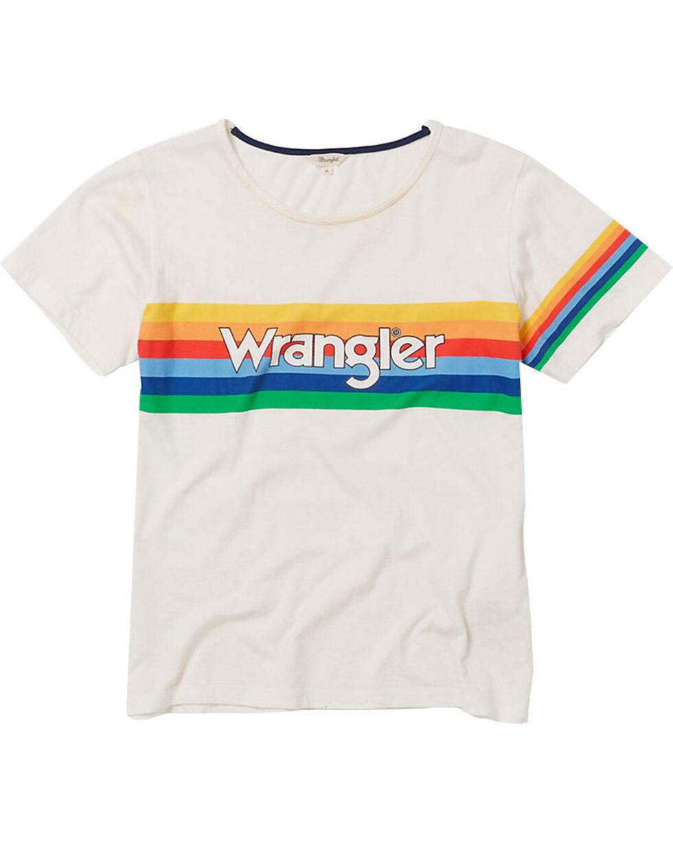 Wrangler Women's 70th Anniversary Retro Screen Print Logo Tee, White, hi-res