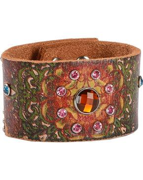 Blazin Roxx Hippie Cuff Bracelet, Brown, hi-res