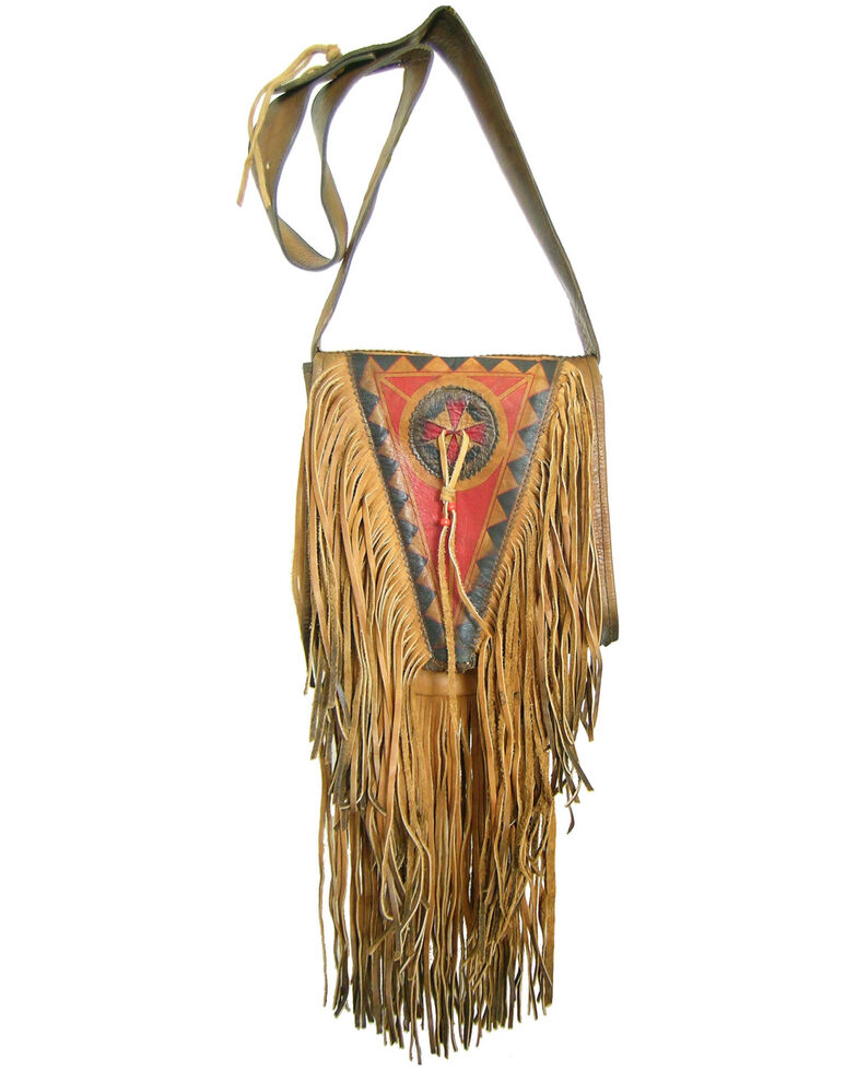 Kobler Leather Women's Painted Crossbody Bag, Tan, hi-res
