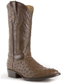 Ferrini Men's Brown Colt Western Boots - Round Toe, Dark Brown, hi-res
