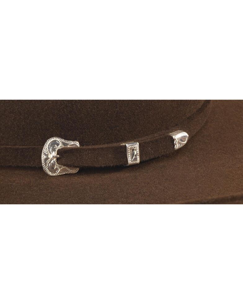 Serratelli Men's Chocolate 6X Fur Felt Beaumont Cowboy Hat, Chocolate, hi-res