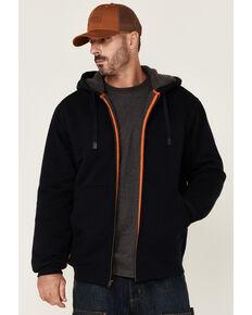 Hawx Men's Navy Sherpa Lined Zip-Front Hooded Work Jacket , Navy, hi-res