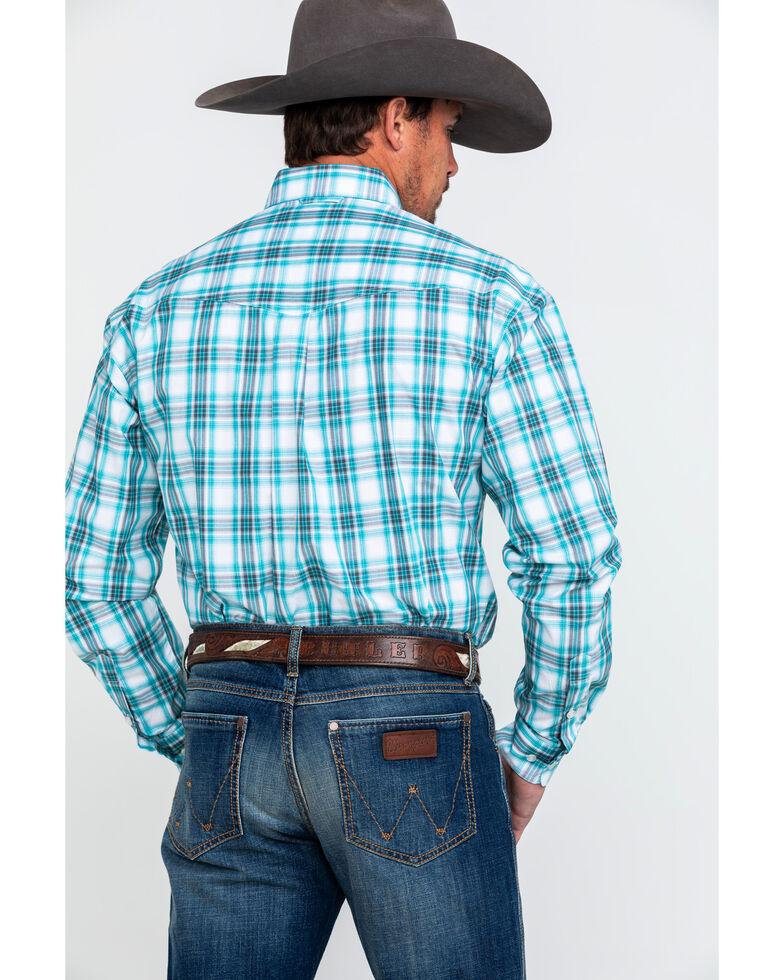 Roper Men's Amarillo Large Plaid Long Sleeve Western Shirt , Blue, hi-res