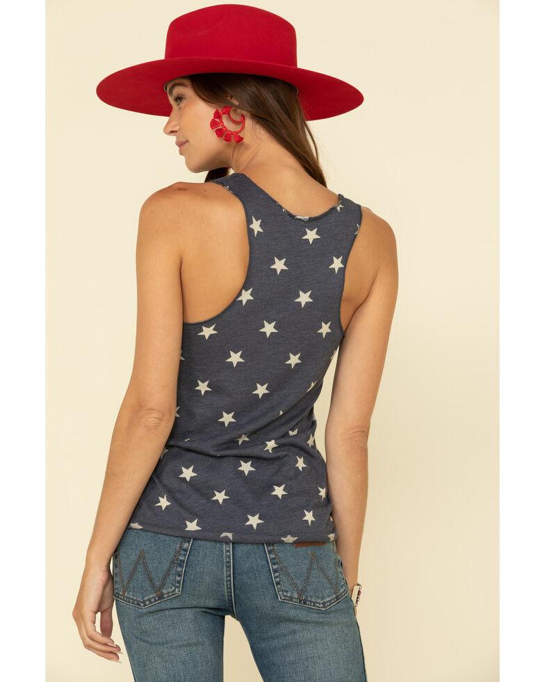 Rodeo Quincy Women's Navy Star American Girl Graphic Tank Top, Navy, hi-res