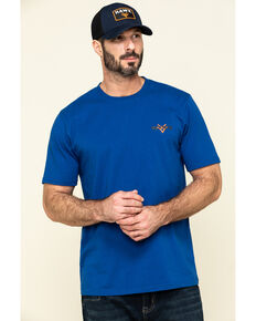 Hawx Men's Blue Fist Graphic Short Sleeve Work T-Shirt , Indigo, hi-res