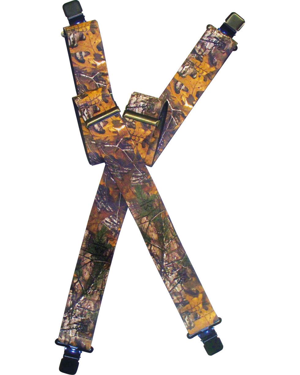 Lyntone Men's Realtree Xtra Suspenders , Camouflage, hi-res