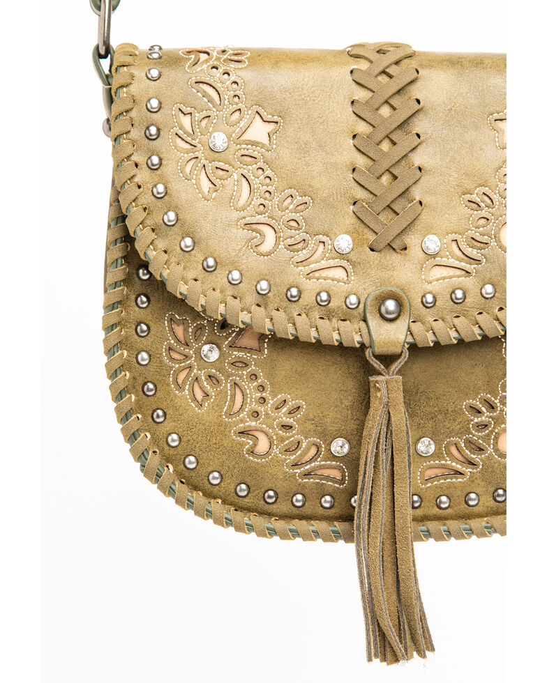 Shyanne Women's Floral Embroidered Crossbody Bag, Olive, hi-res