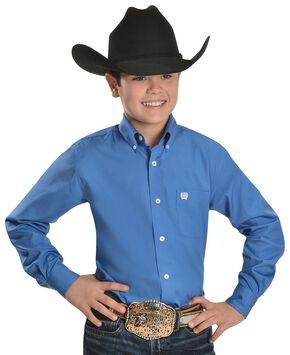 Cinch ® Boys' Blue Button Shirt - 5-16, Blue, hi-res