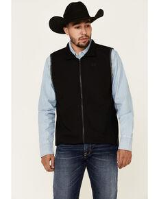 Cinch Men's Black Lightweight Stretch Zip-Up Vest , Black, hi-res