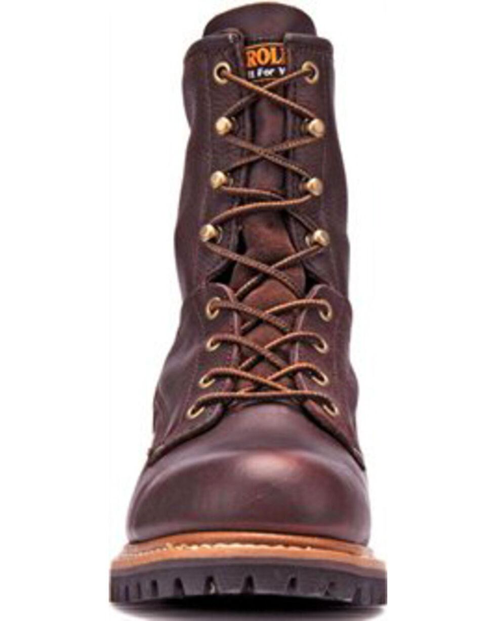 Carolina Men's Brown Logger Boots - Steel Toe, Brown, hi-res