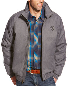 Ariat Team Logo Jacket, Grey, hi-res