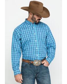 Ariat Men's Wrinkle Free Pelham Small Plaid Long Sleeve Western Shirt , Multi, hi-res