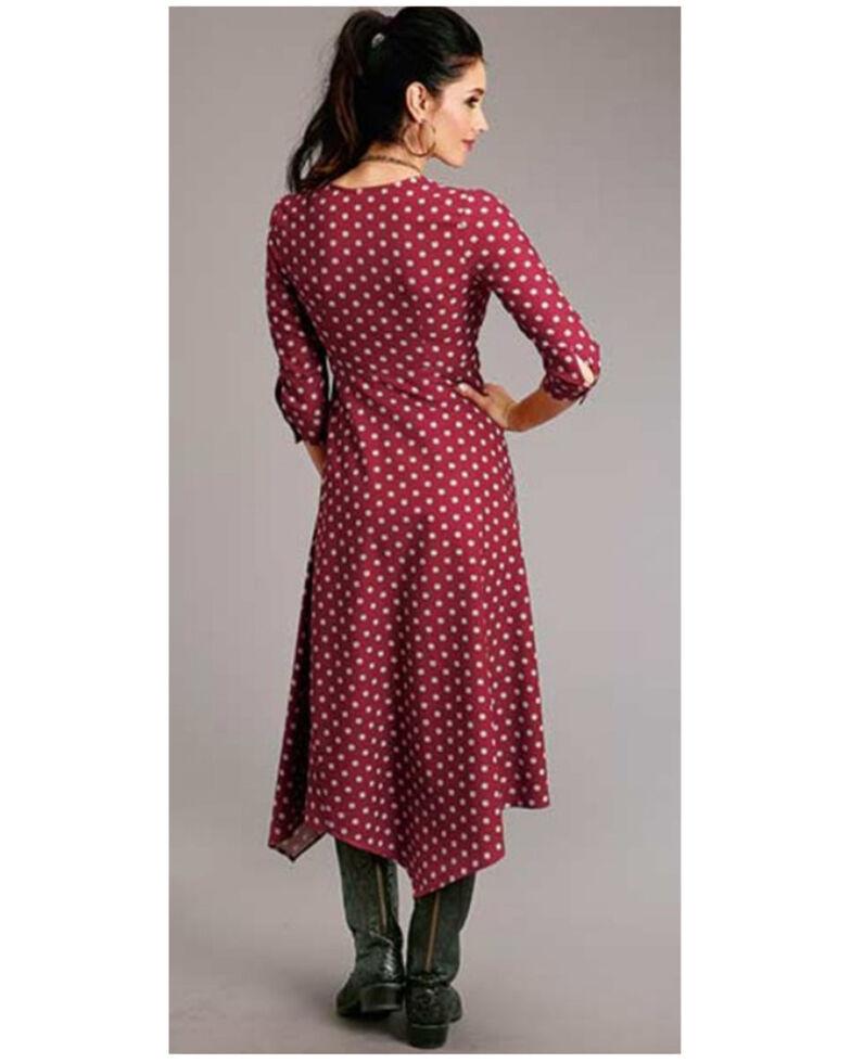 Stetson Women's Wine Aztec Print Maxi Dress, Wine, hi-res