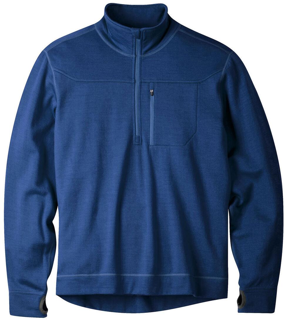 Mountain Khakis Clear Blue Rendezvous Quarter Zip Long Sleeve Shirt, Blue, hi-res