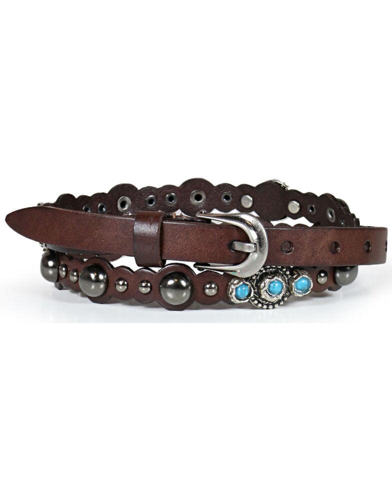 Shyanne Women's Turquoise Studded Belt, Multi, hi-res