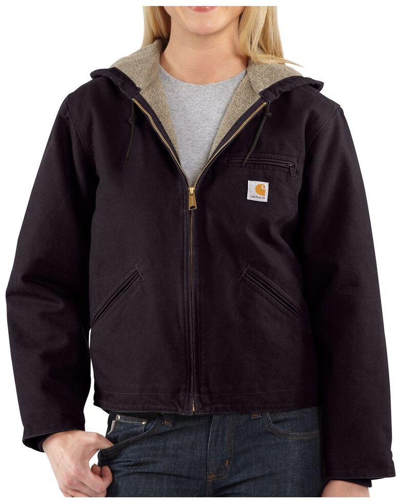 Carhartt Women's Sandstone Sierra Work Jacket, Wine, hi-res
