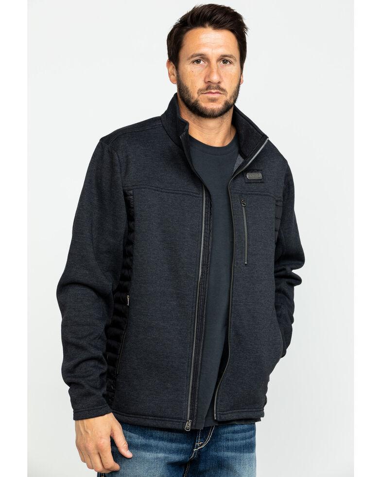 Cinch Men's Fleece Bonded Quilted Jacket , Charcoal, hi-res