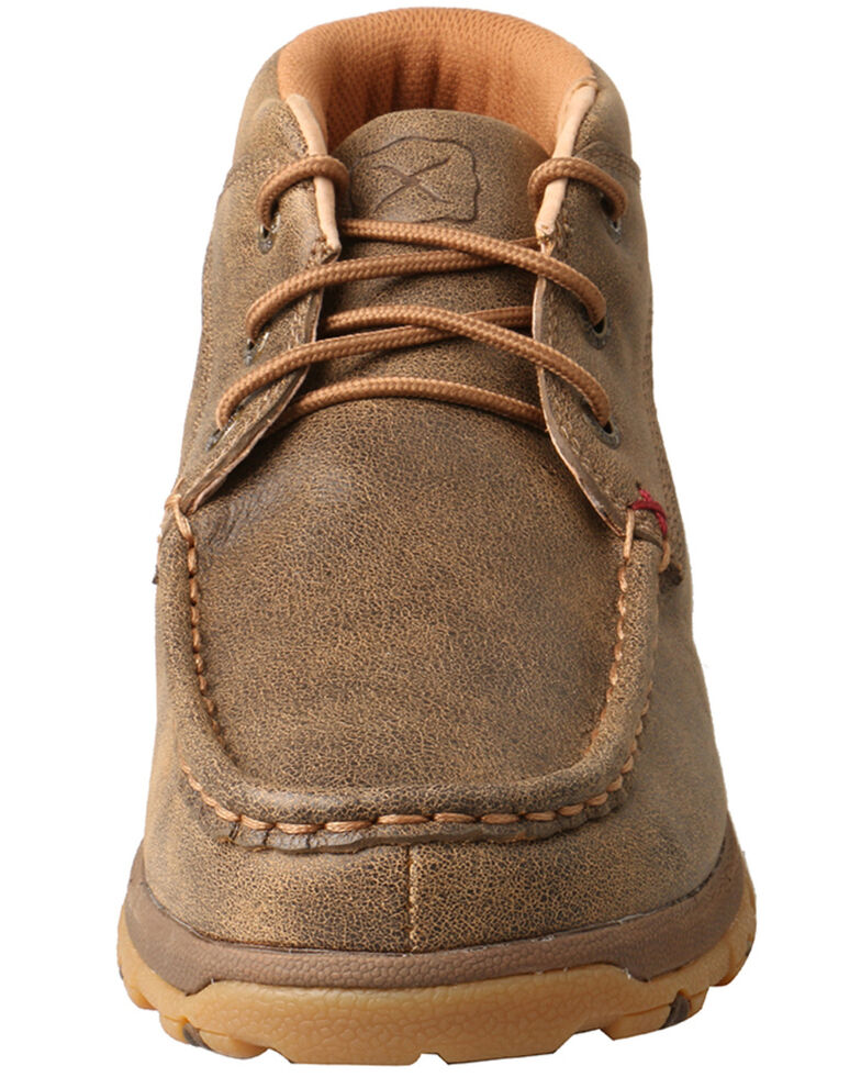 Twisted X Women's Chukka Driving Shoes - Moc Toe, Brown, hi-res