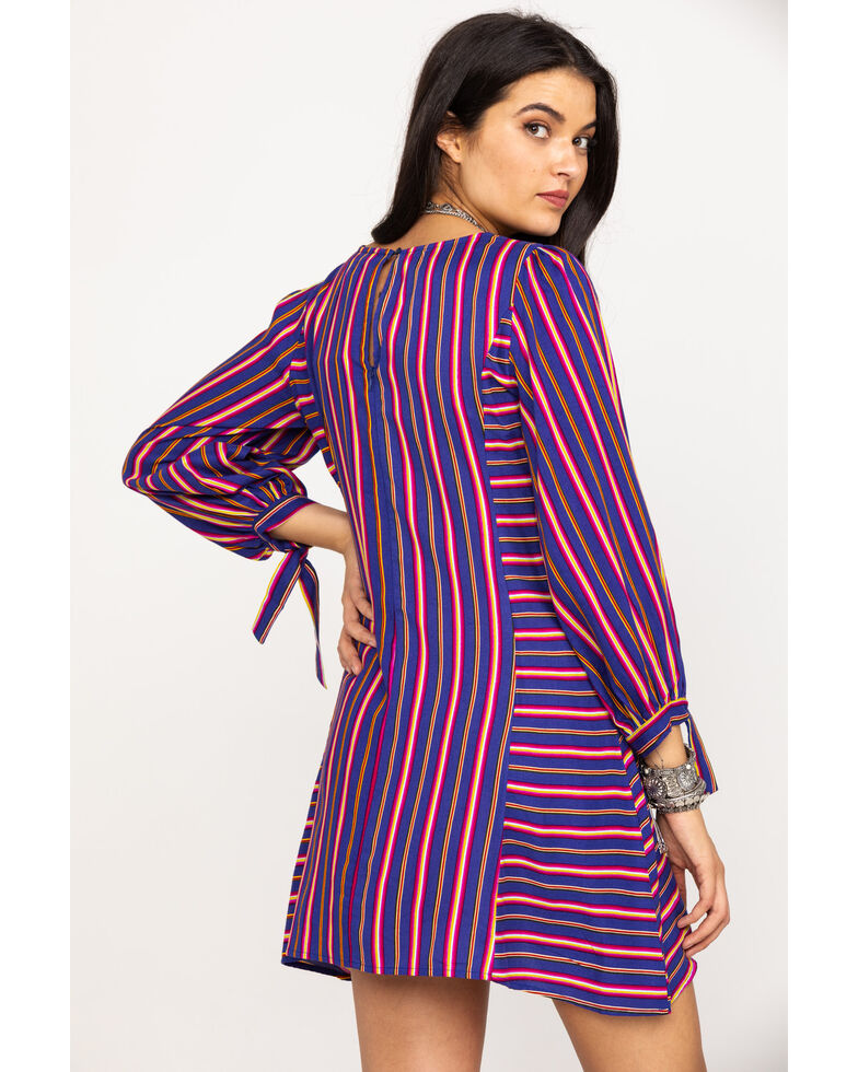 Rock & Roll Denim Women's Striped Dress , Multi, hi-res