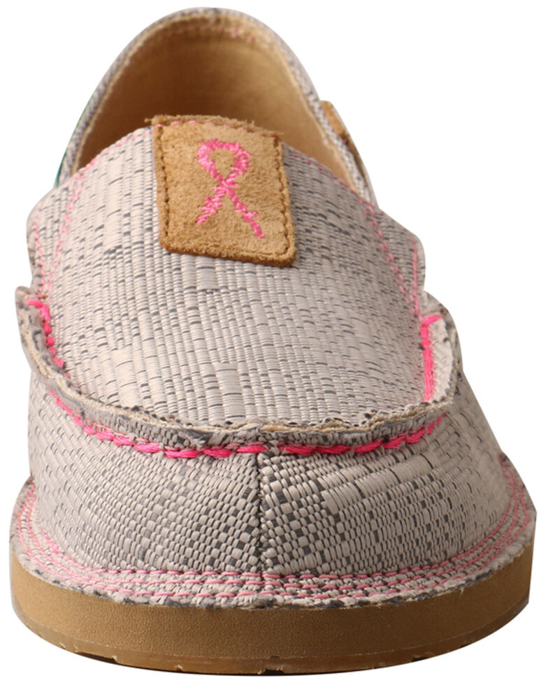 Twisted X Women's Tough Enough To Wear Pink Loafers - Moc Toe, Dark Grey, hi-res